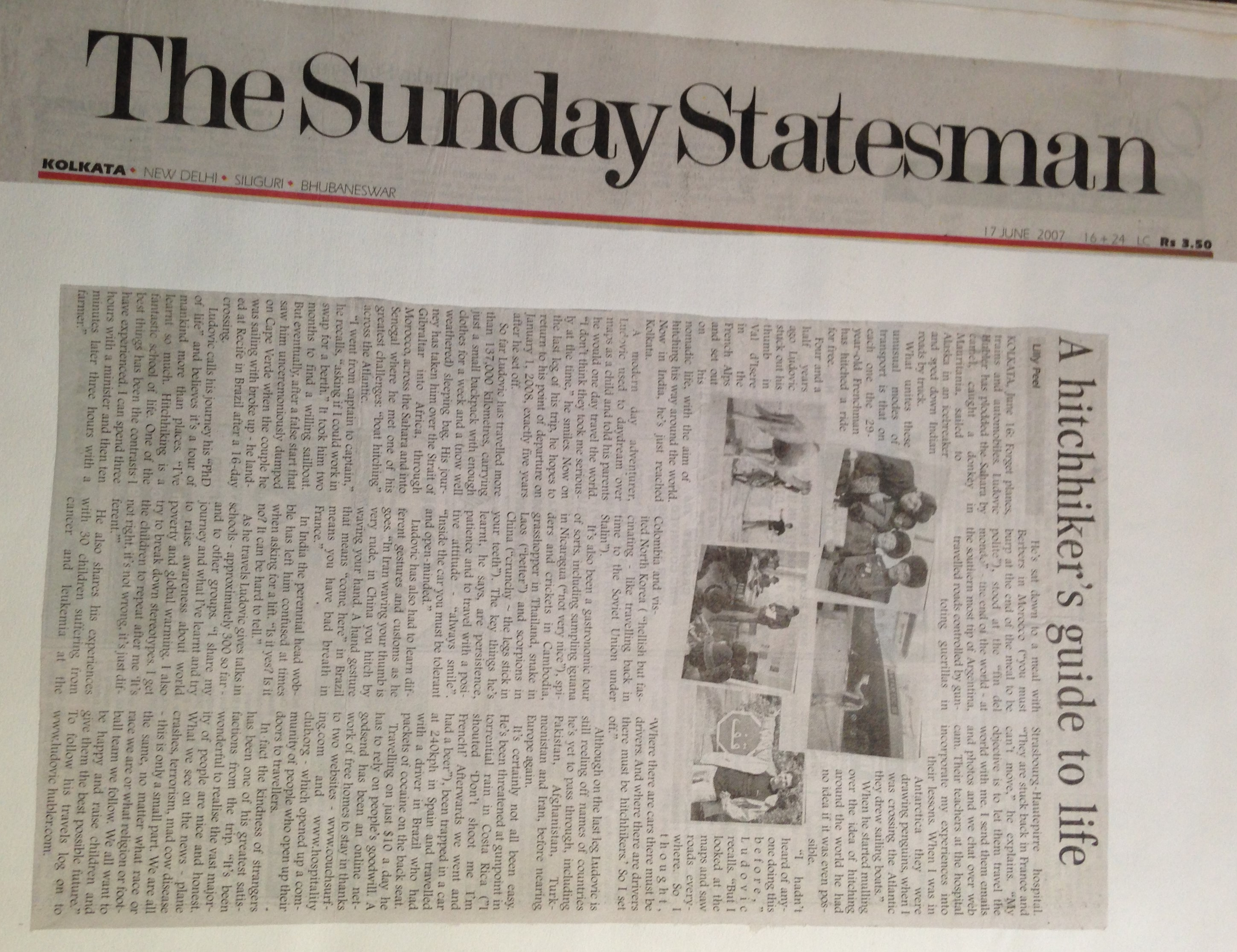 Inde - Calcutta - The Sunday Statesman - 2007