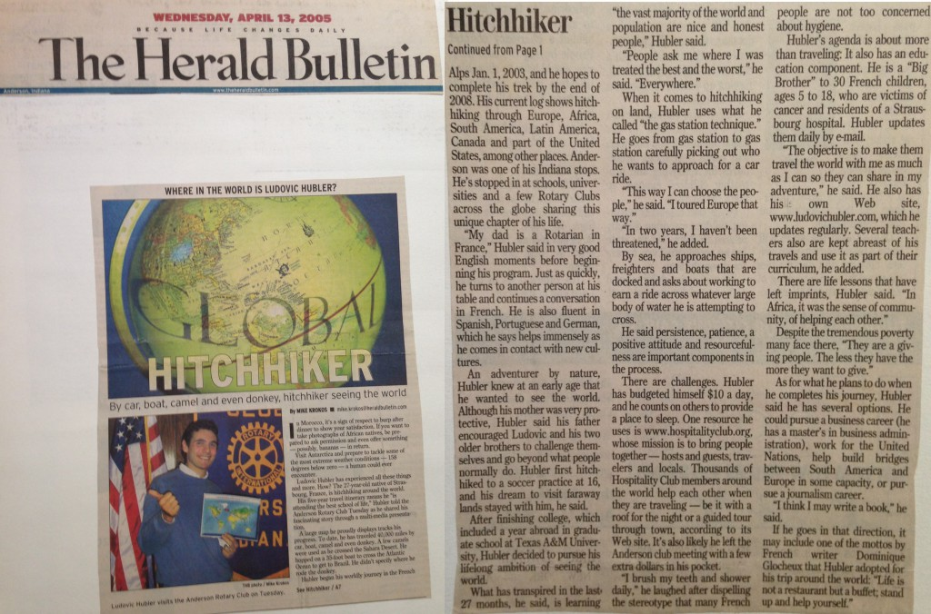 Etats-Unis - The Herald Bulletin - 2005