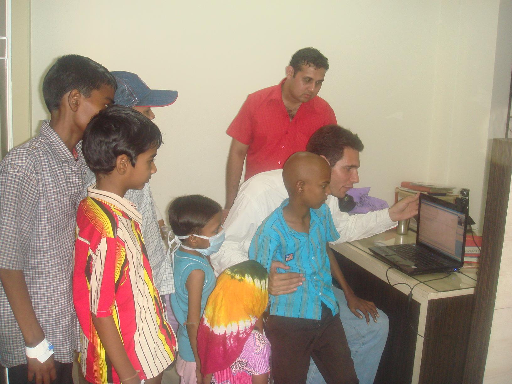 … ou encore à Ahmedabad en Inde...