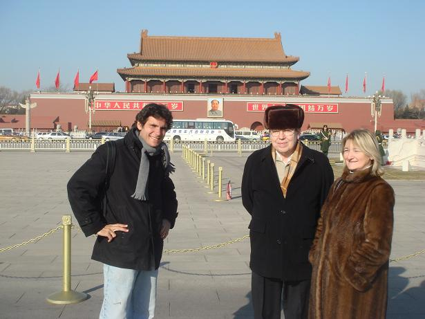Avec mes parents en Chine