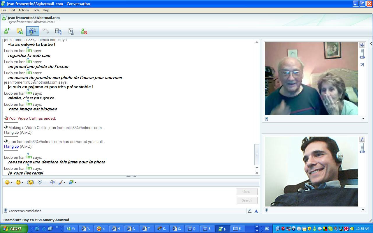 Mes grands parents sur MSN