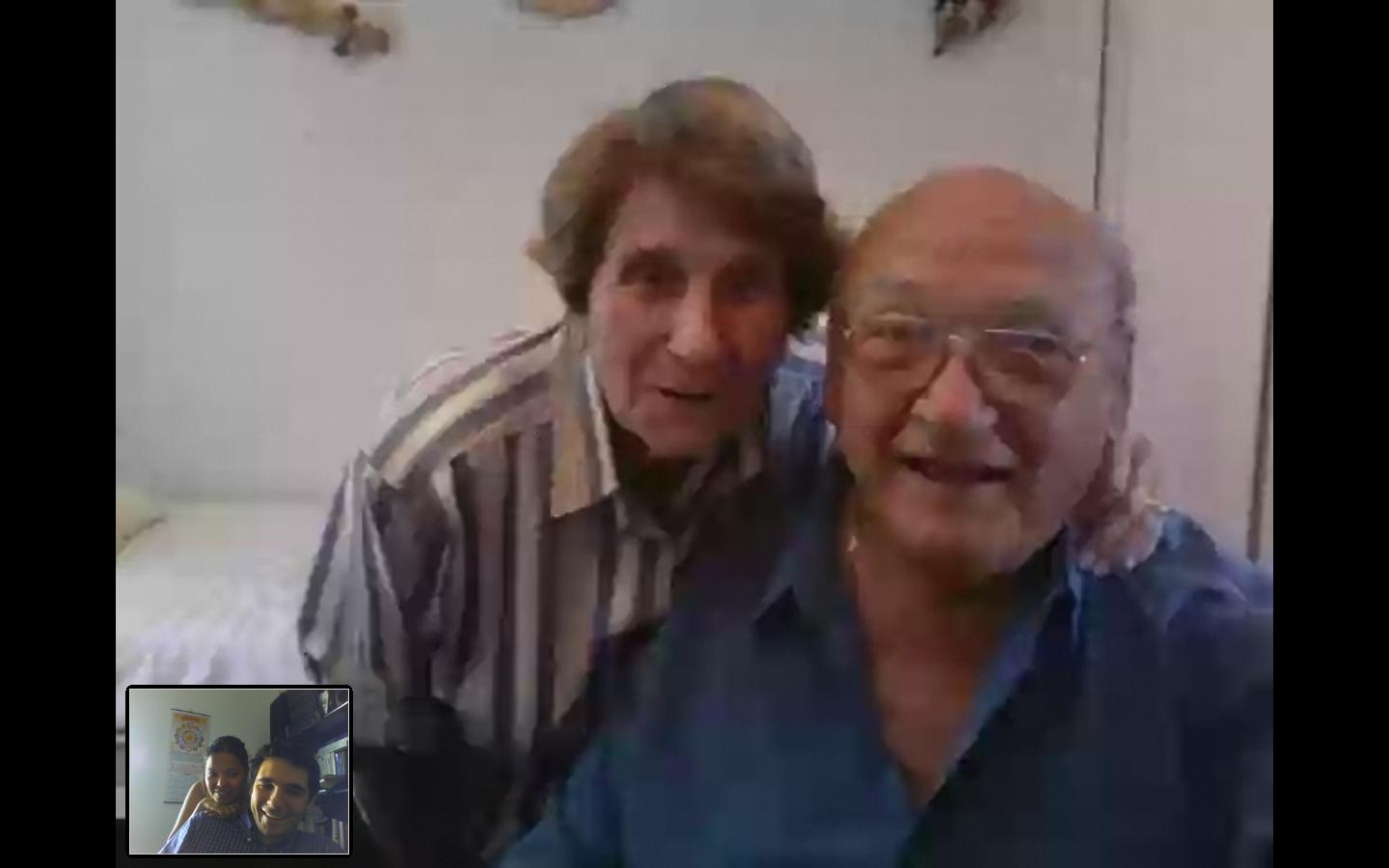 Mes grands parents sur Skype