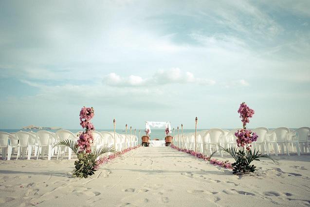 Mariage religieux sur la plage au Panama le 6 février 2010