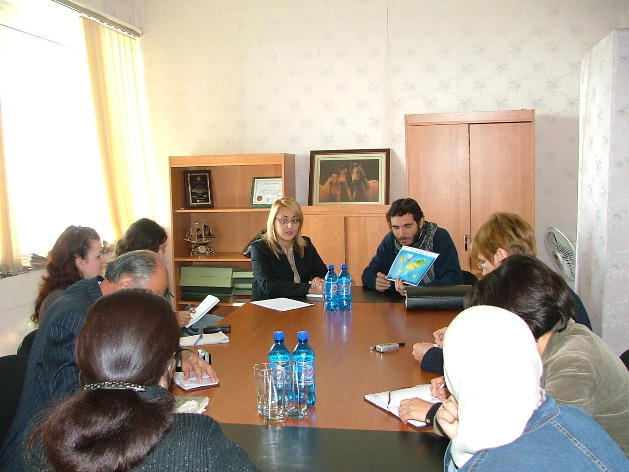 petite conférence de presse au Tadjikistan