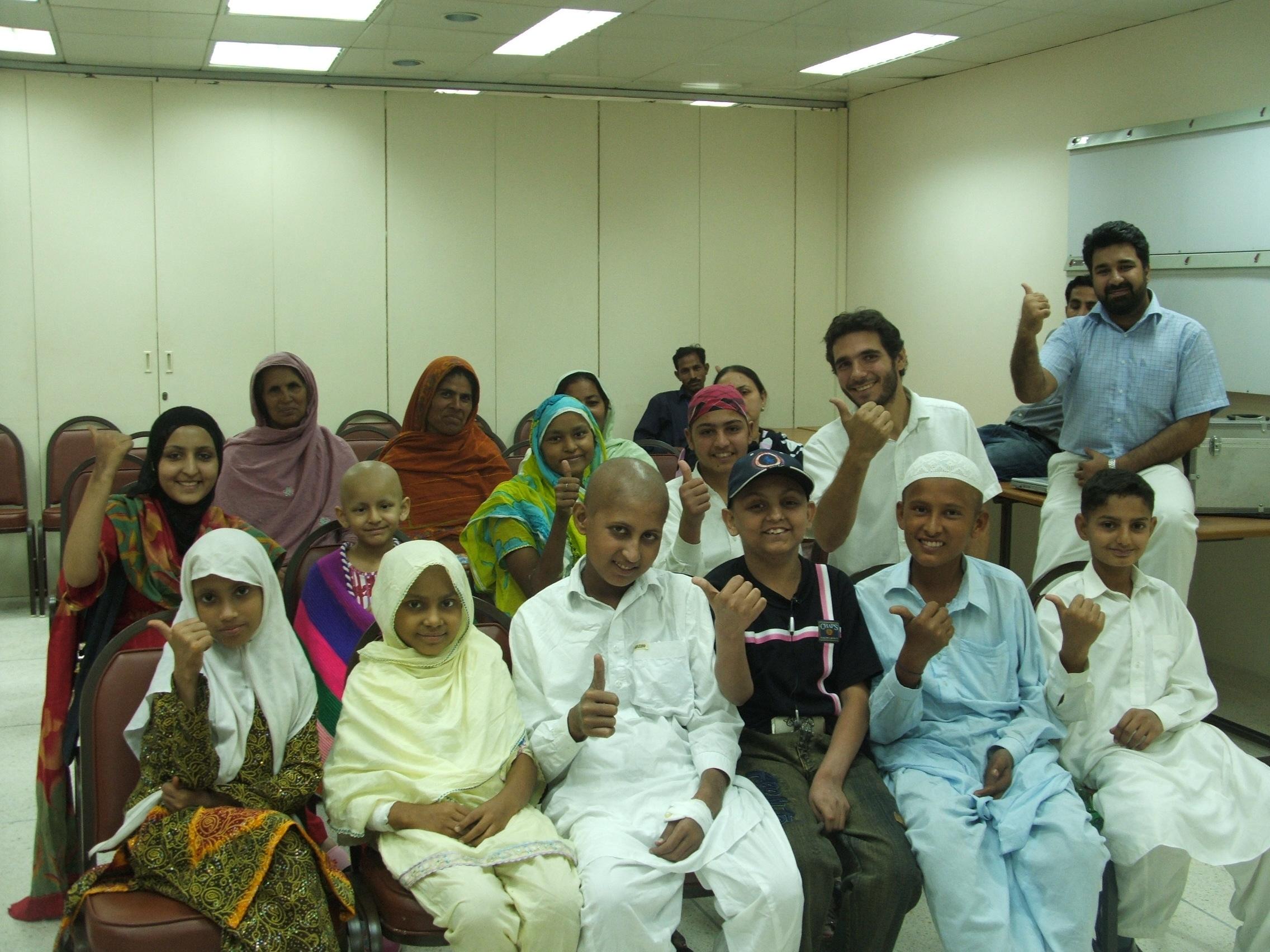 Photo lors de l'intervention faite depuis Lahore au Pakistan...