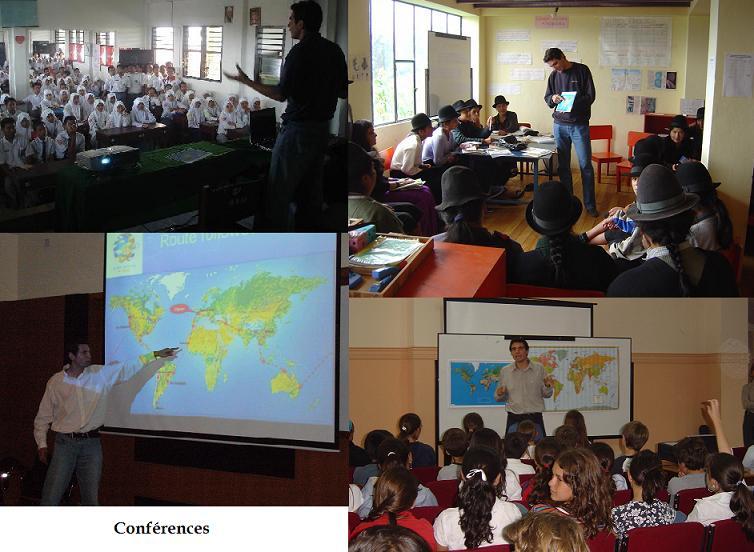 écoles indigènes - ici en Equateur-, écoles Musulmanes - ici en Indonésie - ou autres - Pérou et Australie