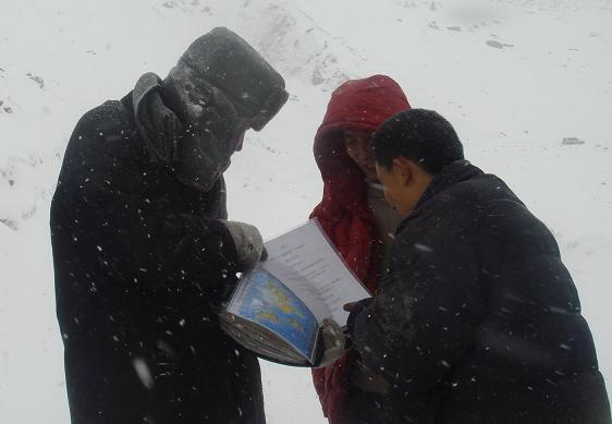 Au beau milieu des montagnes du Tibet