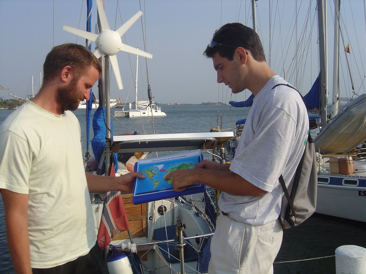 au Panama lors de la recherche d'un bateau pour la traversée du Pacifique